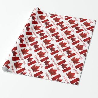 カナダの包装紙のカナダの旗の記念品の紙 ラッピングペーパー