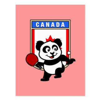 カナダの卓球のパンダ ポストカード