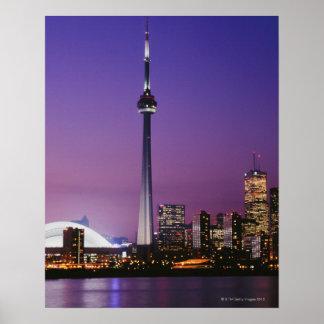 カナダの国民タワー、トロント、カナダ ポスター