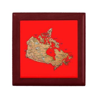 カナダの地図のギフト用の箱 ギフトボックス