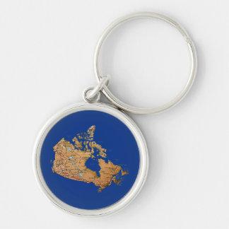 カナダの地図Keychain キーホルダー