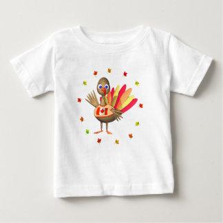 カナダの感謝祭のベビートルコ ベビーTシャツ