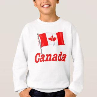 カナダの旗および文字 スウェットシャツ