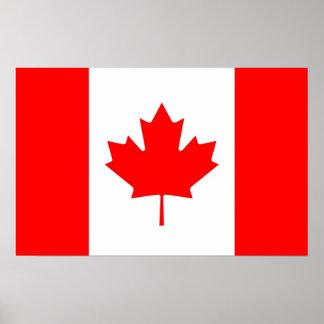 カナダの旗が付いている組み立てられたプリント ポスター
