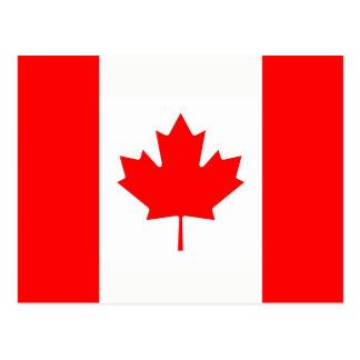 カナダの旗が付いている郵便はがき ポストカード