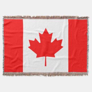 カナダの旗によって編まれる投球毛布|カナダの葉 スローブランケット