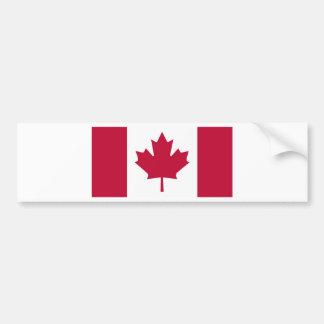 カナダの旗のカエデの葉のデザイン バンパーステッカー