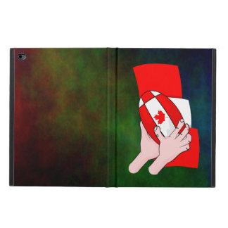 カナダの旗のカエデの葉のラグビーのボール POWIS iPad AIR 2 ケース