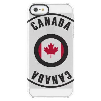 カナダの旗のシンプル クリア iPhone SE/5/5sケース