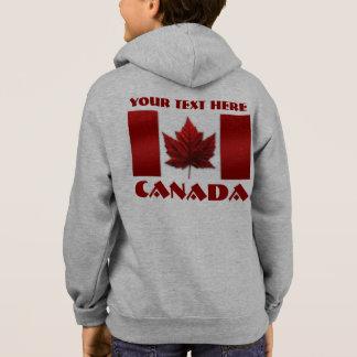 カナダの旗のジャケットの名前入りな記念品のフード付きスウェットシャツ パーカ