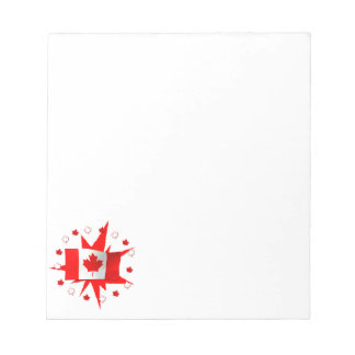 カナダの旗のデザイン ノートパッド
