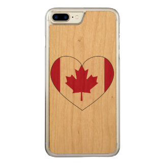カナダの旗のハート CARVED iPhone 8 PLUS/7 PLUS ケース