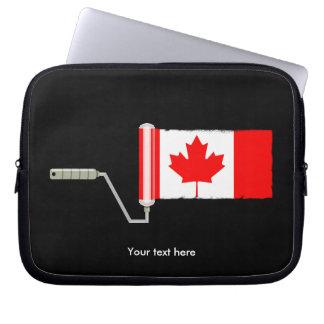 カナダの旗のペンキローラー ラップトップスリーブ