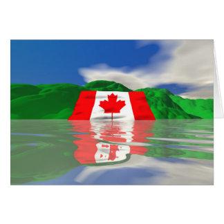カナダの旗の土地 カード