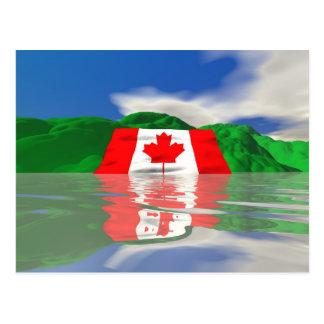 カナダの旗の土地 ポストカード