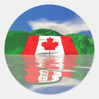 カナダの旗の土地 ラウンドシール