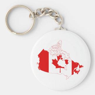 カナダの旗の地図カリフォルニア キーホルダー