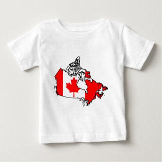 カナダの旗の地図 ベビーTシャツ