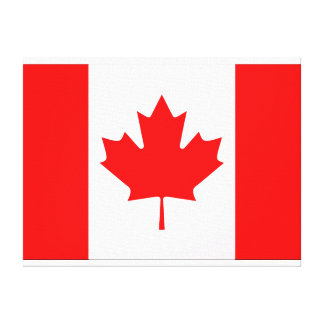 カナダの旗の壁のキャンバス キャンバスプリント