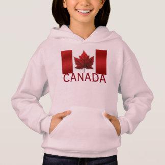 カナダの旗の子供のフード付きスウェットシャツのワイシャツのカナダの記念品の上
