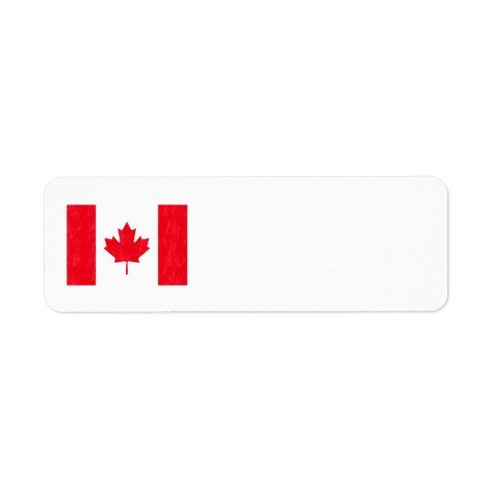 カナダの旗の宛名ラベル 返信用宛名ラベル