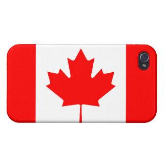 カナダの旗の精通したiPhone 4の光沢のある終わり iPhone 4/4Sケース