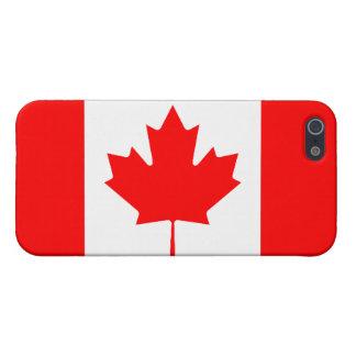 カナダの旗の精通したiPhone 5の無光沢の終わり iPhone 5 カバー