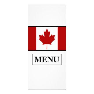 カナダの旗の結婚式メニュー ラックカード