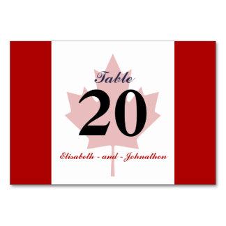 カナダの旗の結婚式 カード