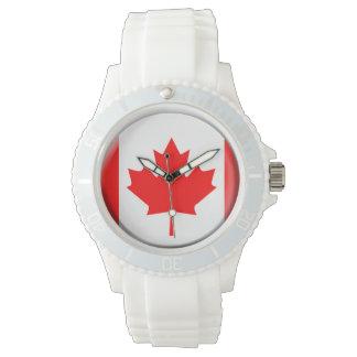 カナダの旗の腕時計 ウオッチ