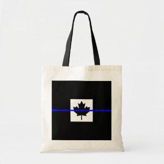 カナダの旗の装飾の薄いブルーライン トートバッグ