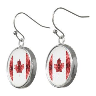 カナダの旗の赤の輝きの低下 イヤリング
