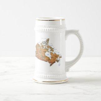 カナダの旗の~の地図のマグ ビールジョッキ