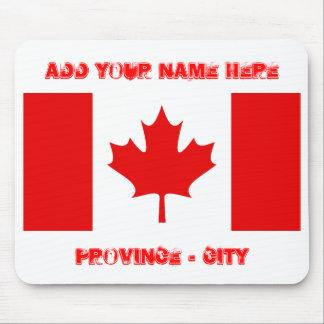 カナダの旗は、あなたの名前を、地域…ここに加えます マウスパッド