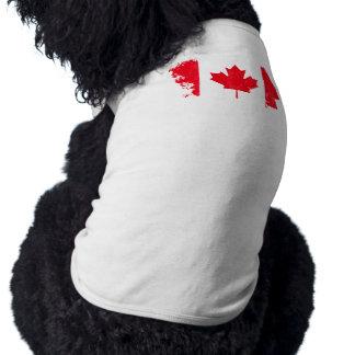 カナダの旗ペットワイシャツ ペット服