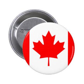 カナダの旗ボタン 5.7CM 丸型バッジ