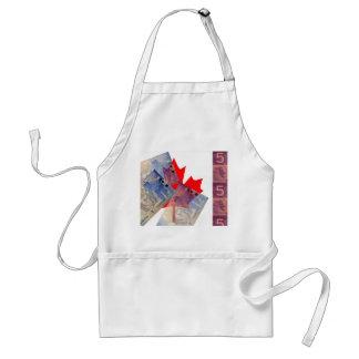 カナダの旗及びお金のエプロン スタンダードエプロン