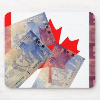 カナダの旗及びお金のマウスパッド マウスパッド