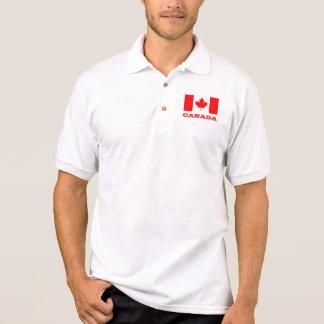 カナダの旗|のカナダのカエデの葉が付いているポロシャツ ポロシャツ
