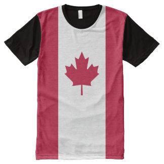 カナダの旗 オールオーバープリントT シャツ