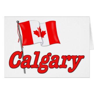 カナダの旗-カルガリー カード