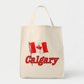 カナダの旗-カルガリー トートバッグ