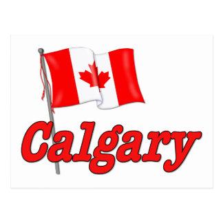 カナダの旗-カルガリー ポストカード