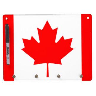カナダの旗 キーホルダーフック付きホワイトボード