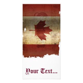 カナダの旗/グランジ… カード