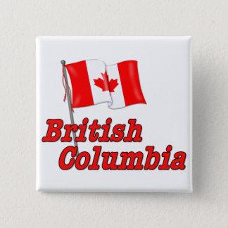カナダの旗-ブリティッシュ・コロンビア 5.1CM 正方形バッジ