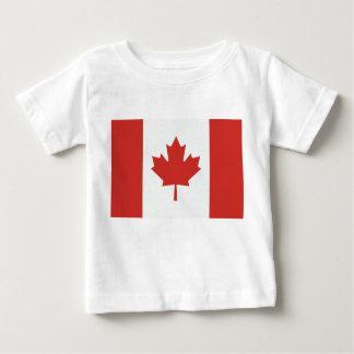 カナダの旗 ベビーTシャツ