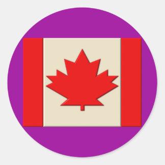 カナダの旗 ラウンドシール