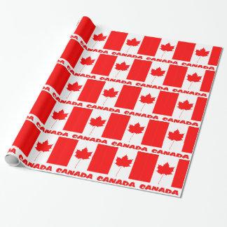 カナダの旗 ラッピングペーパー