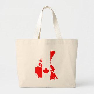 カナダの旗 ラージトートバッグ
